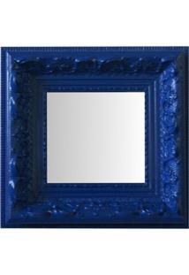 Espelho Moldura Rococó Raso 16234 Azul Art Shop