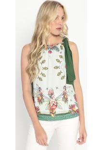 Blusa Fadas- Verde Claro & Laranja- Colccicolcci