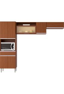 Cozinha Compacta 7 Portas E 1 Gaveta Vanessa-Poquema - Capuccino