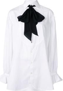 Polo Ralph Lauren Camisa Com Gola De Laço - Branco
