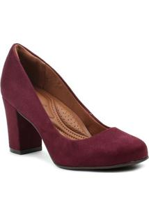 Sapato De Salto Feminino Bebecê Bordô
