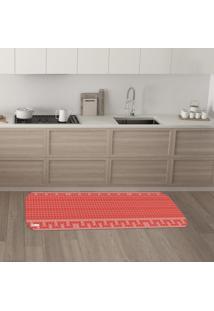 Tapete De Cozinha Mdecore Abstrato Vermelho 40X120Cm