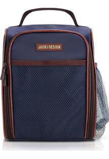 Bolsa Térmica Com Alça E Bolos Externos Jacki Design Ahl17376 Azul E Marrom