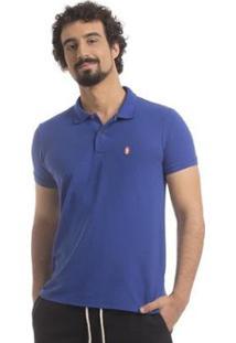 Camisa Polo Piquet Zaiden Style S1 Masculina - Masculino-Azul
