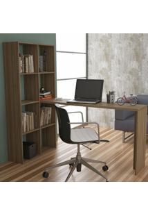 Escrivaninha Com Estante 8 Nichos Be 38 Brv Móveis