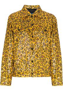Charm'S Jaqueta Com Estampa De Leopardo - Amarelo