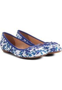 Sapatilha Shoestock Estampada Feminina - Feminino-Azul