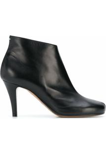 Maison Margiela Ankle Boot Com Salto Agulha - Preto