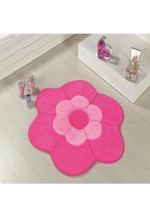 Tapete Formato Feltro Antiderrapante Margarida Dupla Pink - Multicolorido - Dafiti