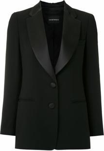 Emporio Armani Blazer Com Abotoamento - Preto