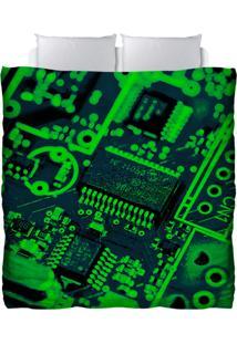 Edredom Colours Creative Photo Decor - Placa De Computador Verde Verde