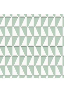 Papel De Parede Geométrico Verde (1000X52)
