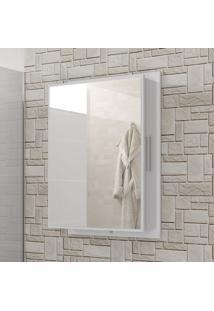 Armário Para Banheiro Napoli Compartimento Lateral Branco - Bechara Móveis