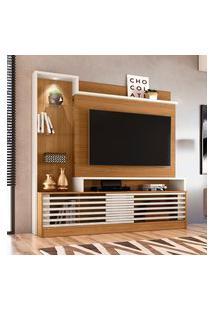Estante Home Theater Frizz Prime Tv Até 55 Polegadas Naturale E Off White Madetec