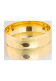 Aliança De Ouro Acabamento Liso - As0790 Dourado