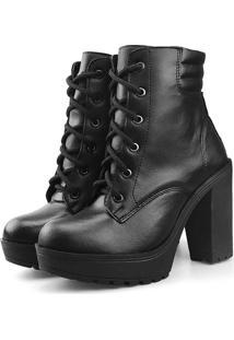 Bota Tratorada Touro Boots Feminina Preto - Preto - Feminino - Dafiti
