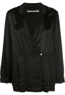 Raquel Allegra Oversized Wrap Jacket - Preto