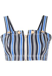 Alice Mccall Blusa Cropped Baby Please - Azul