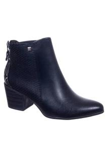 Bota Feminina Ankle Boot Cano Curto Ramarim 2064101 Preto