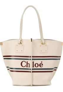 Chloé Bolsa Tote Vick - Branco