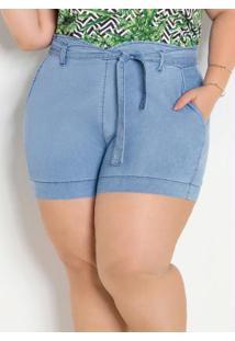 Short Jeans Leve Clochard Plus Size