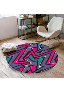 Tapete Redondo Wevans Geométrico Color