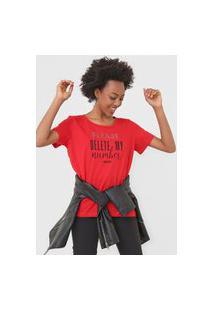 Camiseta Colcci Aplicações Vermelha