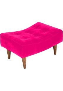 Puff Requinte Baixo Capitone Pé Palito Banqueta Suede Lymdecor Pink