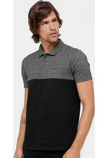 Camisa Polo Ellus Piquet Recorte Bicolor Masculina - Masculino