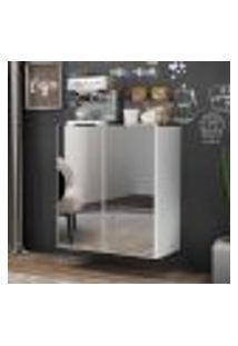 Aparador Cantinho Do Café Com Espelho Suspenso 2 Portas Multimóveis Branco