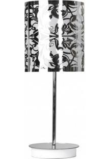 Abajur Para 1 Lâmpada Cilíndrico 1306 Jd Molina Floral