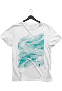Camiseta Jay Jay Básica O Mar Branca Dtg