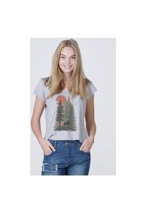 Camiseta Feminina Mirat Vintage Florest Mescla