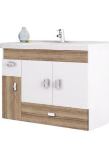 Gabinete Para Banheiro 80Cm Mdf Orquídea Tamarindo 78,8X59X35Cm - Cozimax - Cozimax