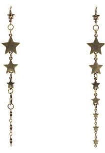 Brinco Com Pingentes De Estrelas Em Material De Metal Dzarm