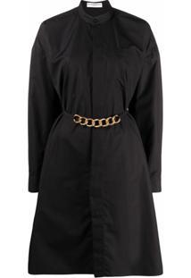 Givenchy Vestido Com Cinto De Corrente - Preto