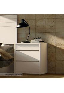 Criado Mudo Premium- Branco- 59X50,4X40,2Cmcasa D