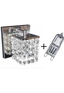 Arandela Parede Cristal 1 Lâmpada G9 110 V