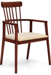 Cadeira Em Madeira Maciça Berlim-Mappin - Canela