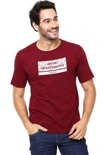 Camiseta Rgx Ideias Interessantes Bordô