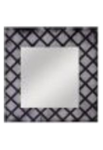 Espelho Quadrado 50Cmx50Cm Preto E Branco