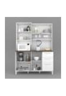 Armário Cozinha Completa 4 Portas Branco