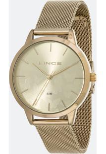 Kit Relógio Feminino Lince Lrg4601L-Kw01C1Kx Analógico 5Atm + Conjunto Semijóia