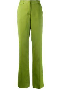 Versace Calça Flare Cintura Alta - Verde