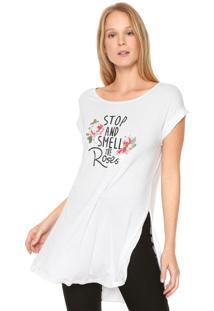 Camiseta Acrobat Alongada Branca