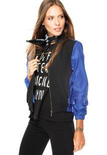 Jaqueta Calvin Klein Jeans Bicolor Azul
