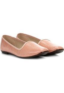 Sapatilha Moleca Slipper Textura Feminina - Feminino-Rosa