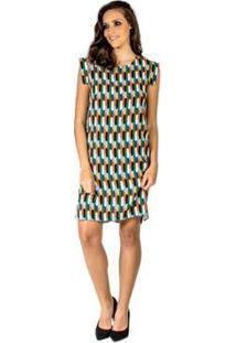 Vestido Estampado Colcci - Feminino-Verde