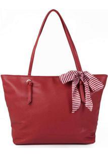 Bolsa Shopping Feminina Pagani Laço Vermelho