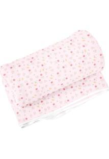Cobertor Floral- Rosa Claro & Rosa- 70X90Cm- 99 Papi